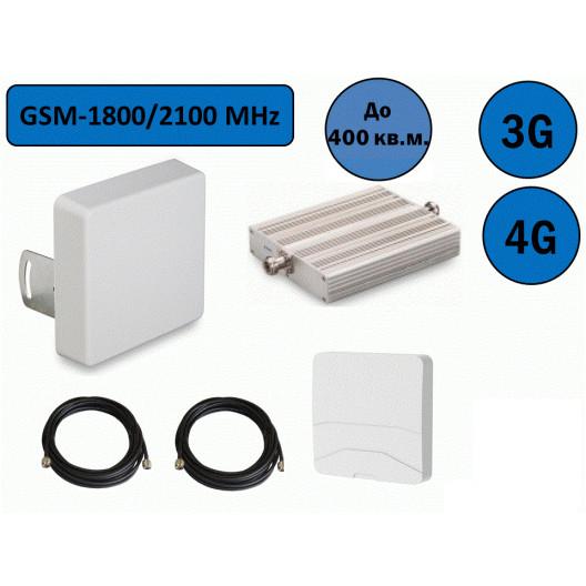 Двухдиапазонный усилитель сигнала GSM-1800/2100. Универсальный