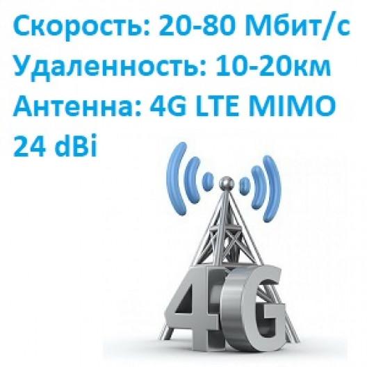 Комплект интернета скорость до 80Мбит/с до 20км